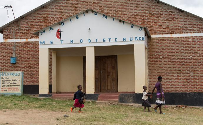 Madisi United Methodist Church hosts a nursery school as well as nutrition and wellness programs in Madisi, Malawi. Photo by Mike DuBose, UMNS.