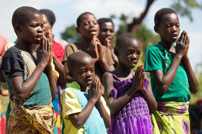 Children from the Chandiwo United Methodist Church choir sing in Njenjete, Malawi. Photo by Mike DuBose, UMNS.