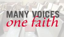 Many Voices, One Faith is a United Methodist Forum created by United Methodist News Service. Photo by Kathy L. Gilbert: illustration by Laurens Glass, UMNS.