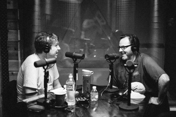 "Mike McHargue, aka Science Mike, right, appears as a guest on the popular podcast, ""You Make It Weird with Pete Holmes."" Although science and religion have been cornerstones of his life, McHargue says he does not pretend to be either a scientist or theologian. ""I am an avid reader and researcher."" Photo courtesy of David Tosti."