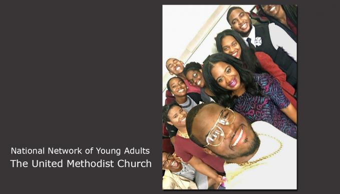 Students with the National Network of Young Adults pose for a selfie. The network finds mentors for young African-Americans interested in leadership in The United Methodist Church in the areas of ordained or lay ministry, social justice or academia. Photo courtesy of Nathalie N. Parker.