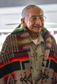 The Rev. Homer Noley was a founder of the National United Methodist Native American Center and has been an advocate for Native Americans since the 1960s. Photo by Ginny Underwood, UMNS.