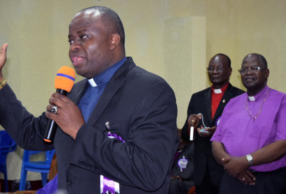 The Rev. Mande Muyombo, an executive of the United Methodist Board of Global Ministries, was elected a United Methodist bishop by delegates at the Congo Central Conference meeting in Kamina, Democratic Republic of Congo. Muyombo, 44, was elected March 18 during the quadrennial meeting. Photo by Eveline Chikwanah, UMNS.