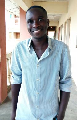 "Eighteen-year-old Joseph Sunday, who was raised at the United Methodist Orphanage in Jalingo, Nigeria, said the orphanage has taught him about love. ""At the orphanage I was offered good education, good home and good shelter. I am now in my last year in high school. I am very grateful to God."" Photo by the Rev. Ande I. Emmanuel, UMNS."
