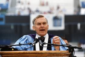 Paul Hardin III served as president of three United Methodist-related schools, Wofford College, Southern Methodist University and Drew University, then became chancellor at the University of North Carolina-Chapel Hill. He died July 1, 2017, in Chapel Hill. Photo by Dan Sears, courtesy of UNC-Chapel Hill.