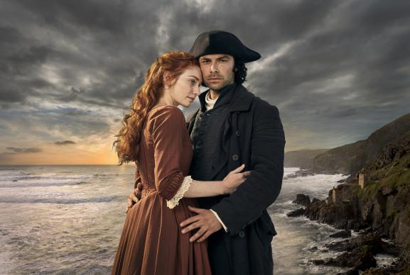 "Set in 18th century Cornwall, England, the TV series, ""Poldark,"" tells the story of Ross Poldark, played by Aidan Turner (right), and his wife Demelza, played by Eleanor Tomlinson. The story takes place around the time when the Methodist movement gained momentum among working class people in Cornwall, and the third season features a Methodist subplot. Photo courtesy of Mammoth Screen."
