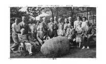 A Methodist camp group gathered around the Red Rock in the mid-1900's. Photo courtesy the Minnesota Annual Conference.