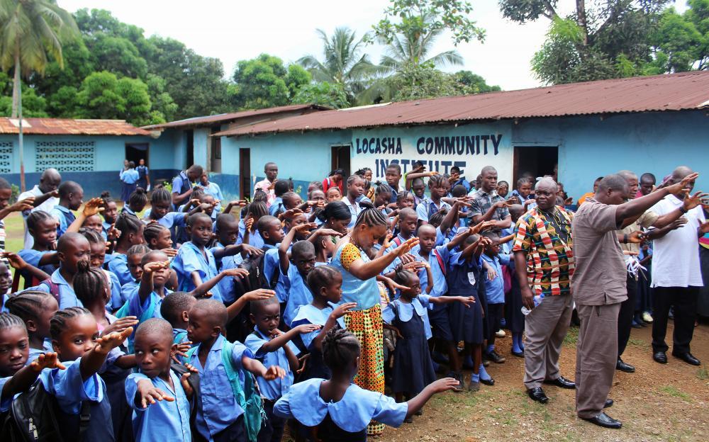 Church in Liberia donating school toilets