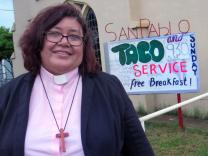 The Rev. Liliana Padilla decided a Taco Service at San Pablo United Methodist Church, in Pearsall, Texas, would reach new people. Padilla, pastor of the historic Hispanic church, cooks the tacos herself.