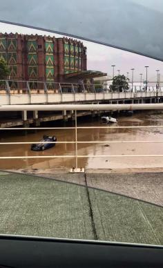 A view of a bridge in Macau, China after Typhoon Hato, the biggest storm to hit the area in year. Photo courtesy of Macau Dangerous Driving.