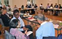 Members of the Commission on a Way Forward meet in small groups during their April 6-8 meeting in Washington, D.C. Photo by Maidstone Mulenga, Council of Bishops