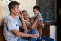 Jose Antonio Marchas Novela recounts the threats of violence that caused him to flee Mexico with his wife, Irlanda Lizbeth Jimenez Rodriguez, and their 1-year-old son, Jose Antonio. The family took shelter at the Christ United Methodist Ministry Center in San Diego while seeking asylum. Photo by Mike DuBose, UMNS.