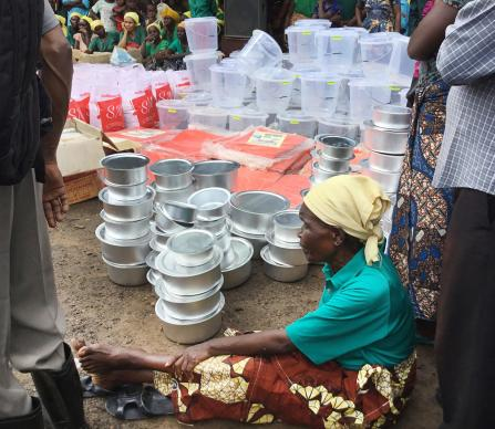 The United Methodist Committee on Relief provided a $10,000 grant to help flood survivors in Kisanga wa Byonyi, Congo. The church used the money to hand out tents, cooking pots, salt, sugar, cooking oil, maize and buckets. Photo by the Rev. Betty Kazadi Musau, UMNS.