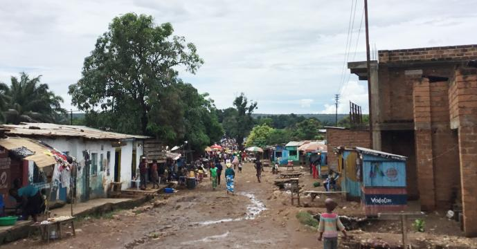 Many areas along the Congo River have flooded in recent weeks, including Kisanga wa Byonyi. The flooding destroyed the homes and belongings of many residents, while some lost property to looters. Photo by the Rev. Betty Kazadi Musau, UMNS.