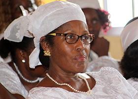 Pastor Rose Farhat is director of women's ministries for United Methodist Women in Liberia. Photo by E Julu Swen.