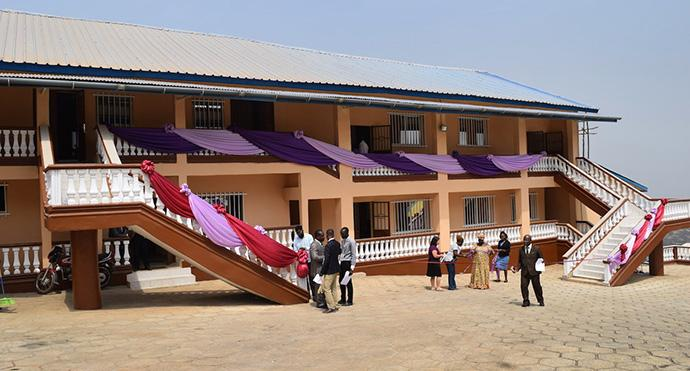 View of the new Bishop Wenner School of Theology at United Methodist University in Sierra Leone. Photo by Phileas Jusu, UMNS.