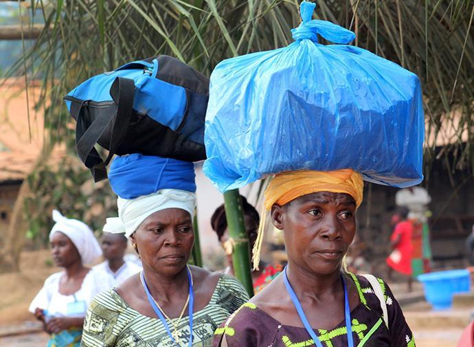 Delegates leave the United Methodist Women annual gathering in Tappita, Liberia, Jan. 28. Photo by E Julu Swen.