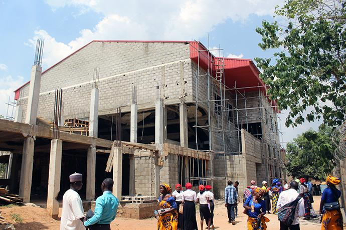 Abuja Area 1 United Methodist Church in Abuja, Nigeria, has been under construction since 2009. The church has been fined several times for failing to meet federal construction deadlines. Photo by E Julu Swen, UMNS.