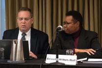 Benton R. Heisler and Beverly Wilkes-Null, members of the North Central Jurisdiction Committee on Appeals, heard arguments on March 9 from the West Ohio Conference appealing a decision by the West Ohio Committee on Investigation to drop two of three charges against the Rev. David Meredith that stemmed from his 2016 marriage to another man.