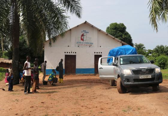 "The United Methodist Church of the Kasongo-Samba District is helping those displaced by insecurity in the Maniema province of the Democratic Republic of Congo. ""The (recent) help we have brought does not mean that we have finished all the needs of those who have not yet returned home,"" said East Congo Bishop Gabriel Yemba Unda. ""We pray to the Lord that we find ways to assist them. They are all children of God."" Photo by Judith Osongo Yanga, UMNS."