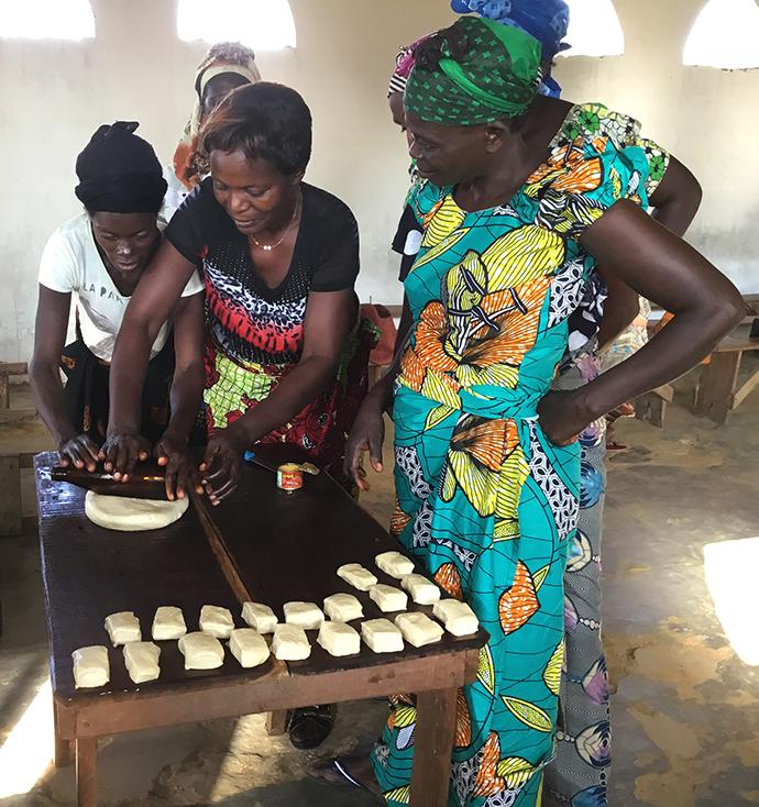 While their husbands study theology, the students' wives receive training in domestic and language skills at Kindu United Methodist University in Democratic Republic of Congo. Photo by Judith Osongo Yanga, UMNS.