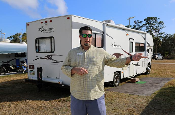 """The Rev. David Weber Jr., director of the Riverside Camp and Retreat Center in LaBelle, Fla., said he felt called to offer """"extreme Christian hospitality"""" by rearranging the lodging schedule to house volunteers and missionaries. Photo by Gustavo Vasquez, UMNS."""