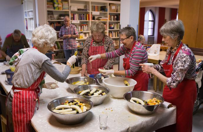 The United Methodist Church-Frankfurt City offers a weekly lunch for some 200 community members. Photo by Mike DuBose, UMNS.