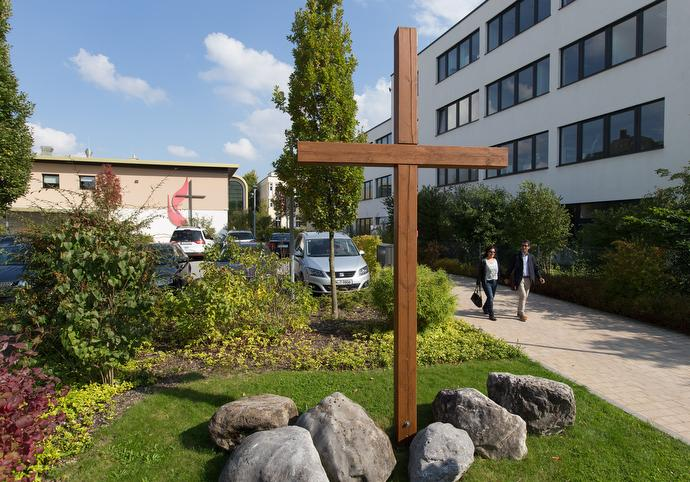 The United Methodist Church of the Redeemer in Munich, Germany, served as a polling place in Germany's September 2017 elections. Photo by Mike DuBose, UMNS.