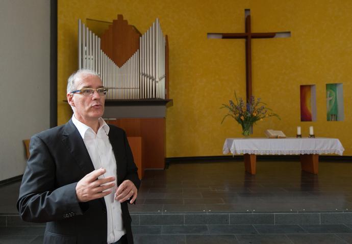 The Rev. Uwe Saßnowski, is senior pastor of The United Methodist Church-Frankfurt City in Frankfurt, Germany. Photo by Mike DuBose, UMNS.