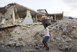 Many neighborhoods in Port-au-Prince, Haiti, remain devastated, nearly one year after a deadly earthquake struck in January 2010. Recovery in Haiti has no parallel for the United Methodist Committee on Relief and other aid agencies. Photo by Mike DuBose, UMNS