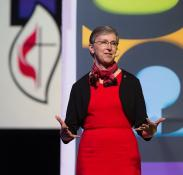 Harriet Olson, top executive of United Methodist Women. File photo by Mike DuBose, UMNS.