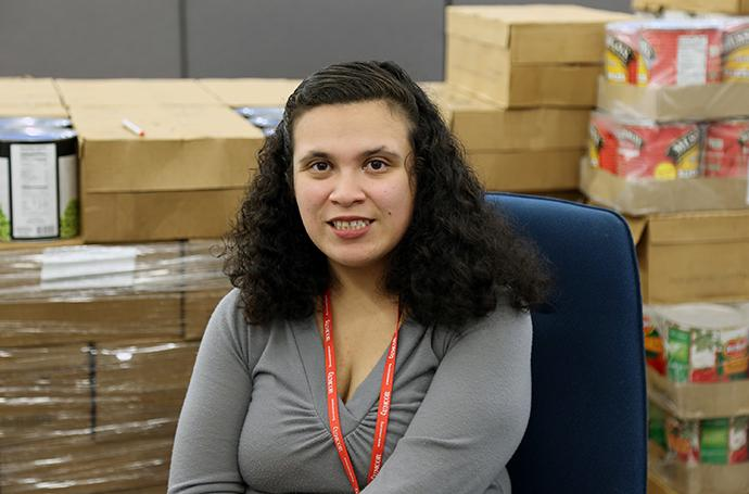 Aileen Castro is case manager with the Florida Conference's Disaster Response team in Naples, Fla. Castro took the job as a way to give back after her family was helped to recover after Hurricane Irma flooded their house and cars. Photo by Gustavo Vasquez, UMNS.
