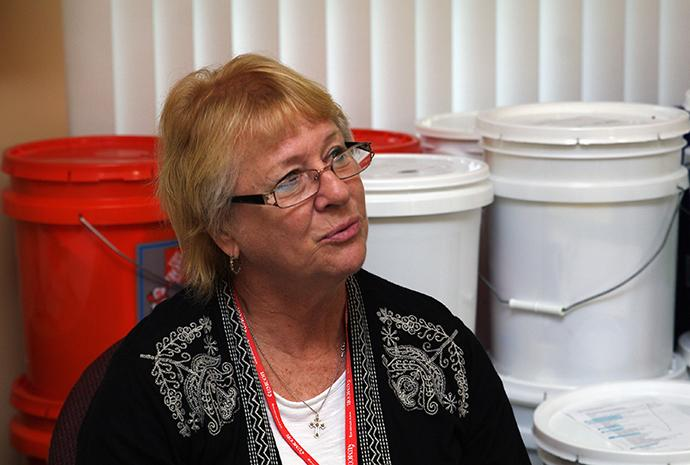 """Kathy Curtis, a Florida Conference case manager based in Marco Island, Fla., came out of retirement to accept her position. """"My heart has never been in a job like it is with this one; it's a calling,"""" she said. Photo by Gustavo Vasquez, UMNS."""