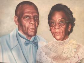 "A portrait of James and Marie Salley, parents of James ""Jim"" H. Salley who has donated more than $130,000 to Africa University for an endowed scholarship in their honor. Photo courtesy of James H. Salley."