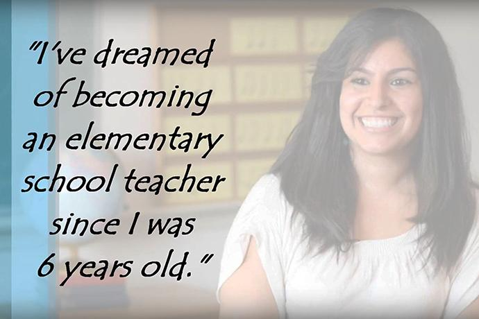 """A Dreamer, this young woman hopes to teach young people as her profession. Video image from """"The JFON DREAMers,"""" courtesy of Justice for Our Neighbors."""