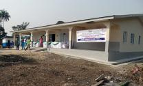A new health center in Joyah, Sierra Leone, will provide prenatal care, routine deliveries, immediate postnatal and neonatal care, vaccinations and other services. The center was built with support from The United Methodist Church in Norway. Photo by Phileas Jusu, UMNS.