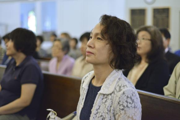 "Sunday worship at Eden Korean United Methodist Church in Baltimore, Maryland, 2015. In Bishop Hee-Soo Jung's commentary, he states that the Korean United Methodist Church is a dynamic church that ""extends the kingdom of God through love and mission."" File photo by Jay Mallin, UMNS."