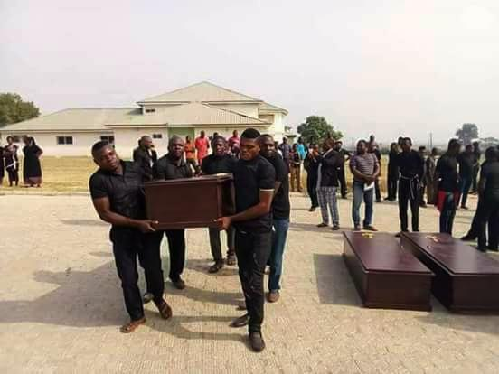 Victims of an early January attack in Benue State are prepared for mass burial at a morgue in Makurdi, Nigeria. Photo by the Rev. Ande I. Emmanuel, UMNS.