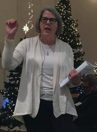 Becky Williams, director for sexual ethics and advocacy for the United Methodist Commission on the Status and Role of Women, leads a Jan. 24 training for the denomination's Rio Texas Conference at Manchaca United Methodist Church near Austin. Photo by the Rev. Teresa Gayle Welborn.