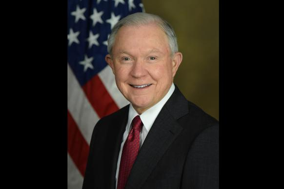 U.S. Attorney General Jeff Sessions quoted Romans 13 to justify a new zero tolerance policy on illegal immigration. Official portrait by United States Department of Justice.