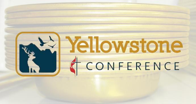 The Yellowstone Conference raised more than $100,000 in a special Harvest Time Legacy campaign and for the first time in a long time, the conference is paying 100 percent of general church giving. Photo by Kathryn Price, United Methodist Communications; logo courtesy of the Yellowstone Conference.