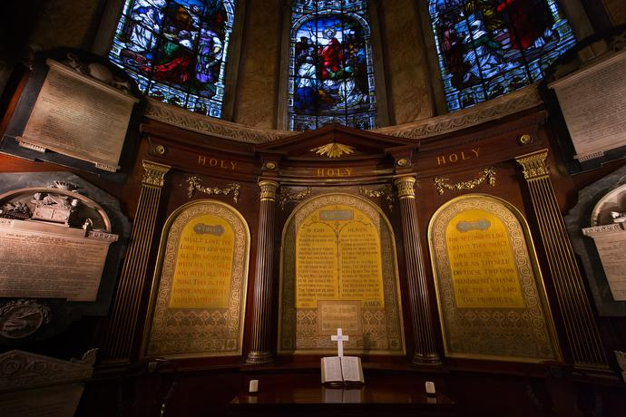 John Wesley's Communion Table is a central feature of Wesley's Chapel. Photo by Mike DuBose, UMNS.