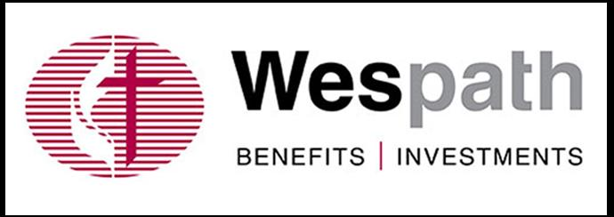 The logo for the former United Methodist Board of Pension and Health Benefits features a first syllable that points to John Wesley, Methodism's founder, with the second suggesting the agency will follow Wesley's and Methodism's way. Logo courtesy of Wespath.