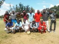 A men's soccer team is an outreach ministry of Granary United Methodist Church in Harare, Zimbabwe. Photo courtesy of Granary United Methodist Church Communications.