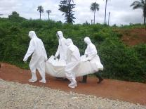 People in head-to-toe protective gear taking away dead bodies have become common in West Africa.