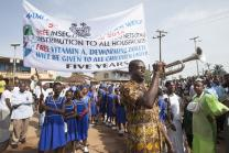 Celebration to kick off national Maternal and Child Health Week in Sierra Leone. Photo by Mike DuBose, UMNS