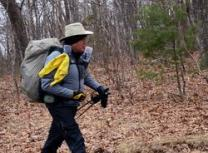 David Smith, age 69, starts his six-month hike from Springer Mountain as Holston Conference's second United Methodist chaplain to hike the Appalachian Trail. Photo courtesy of the Holston Conference of the United Methodist Church.