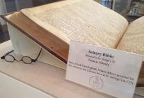 Francis Asbury's Bible is part of the collection at Historic St. George's UMC in Philadelphia. Photo by Fran Coode Walsh.