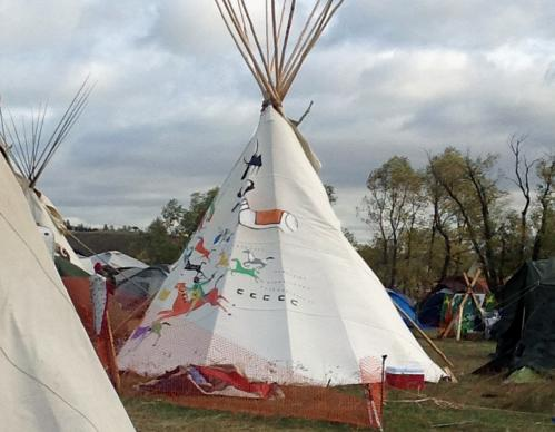 Some 1,300 people, including members of the Standing Rock Sioux Tribe, have used the campsite near Cannon Ball, N.D.,  as a base to protest the Dakota Access Pipeline, which tribal members say crosses sacred land and imperils their water supply.  Photo by Erin Hawkins, United Methodist Commission on Religion and Race.