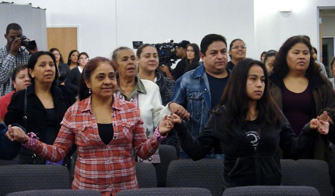 Christ's Foundry United Methodist Church in Dallas, an Hispanic congregation, held a watch party Thursday night for President Obama's televised address on immigration. Afterwards, many present held hands and sang